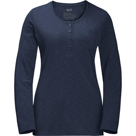 Jack Wolfskin Winter Travel Henley Dames, midnight blue